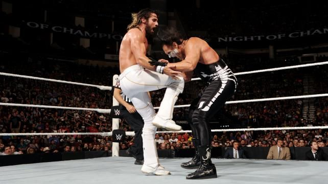 Image result for seth rollins sting match