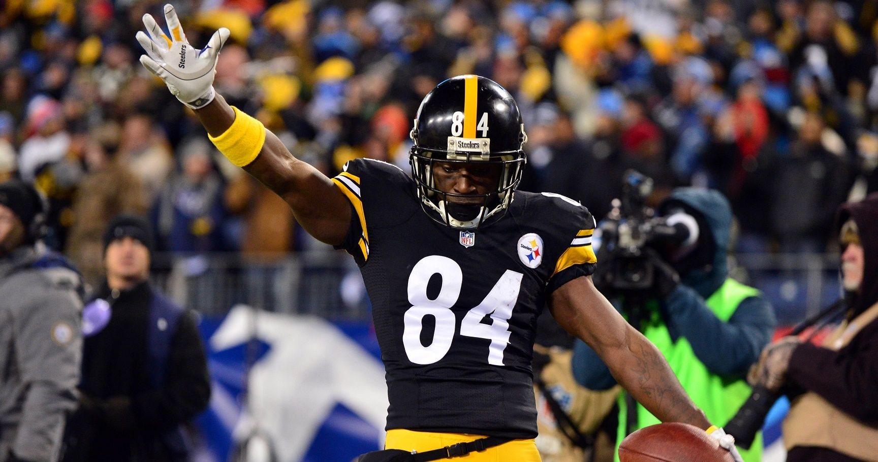 This is a 2010 photo of Antonio Brown of the Pittsburgh Steelers NFL football team This image reflects the Pittsburgh Steelers active roster as of Monday