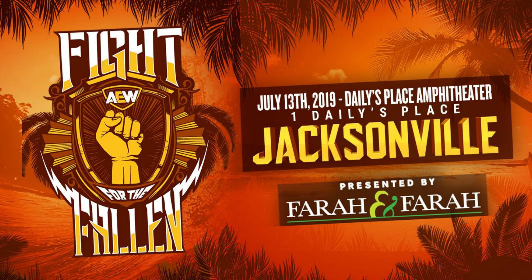 Aew Fight For The Fallen 2019 Match Card Start Time