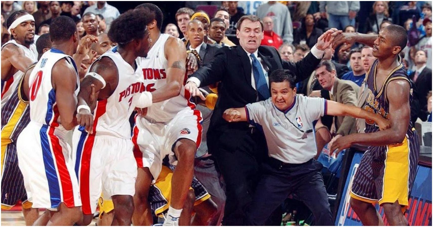 Pistons Pacers Brawl
