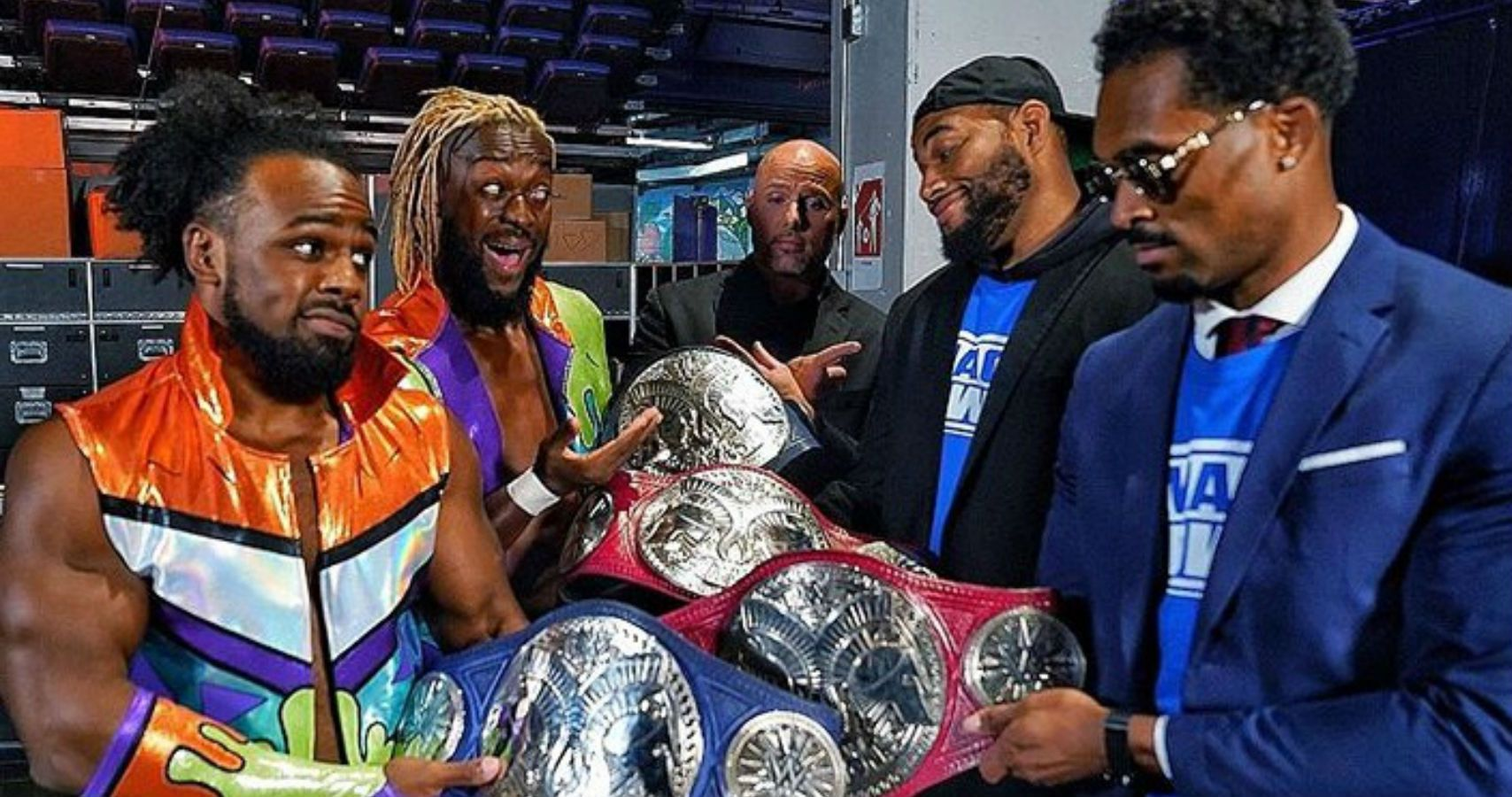 New Day And Street Profits Trade Tag Team Titles On Raw